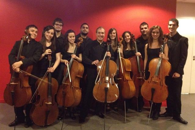 Grupo cellos conservatorio superior de Aragón