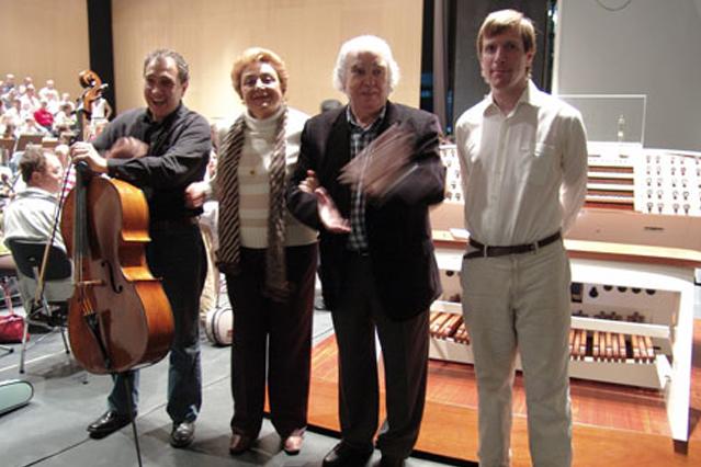 Con la soprano Maria Orán y el compositor Antón García Abril