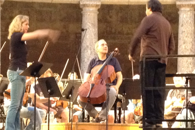 Playing Brahms in Granada Festival. I. van Keulen, J. Mena, A. Polo