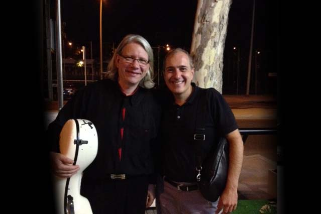 With Peter Bruns after the concert