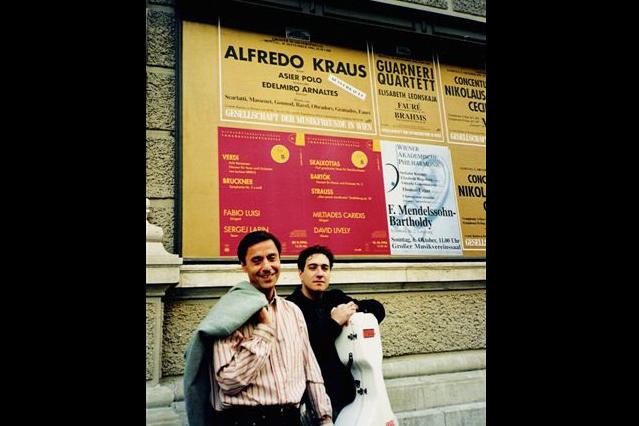 Con el Pianista Edelmiro Arnaltes
